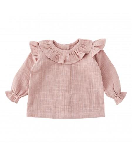 Koszula muślinowa dusty pink