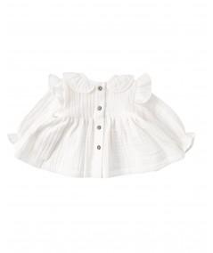Koszula muślinowa z falbankami - biała