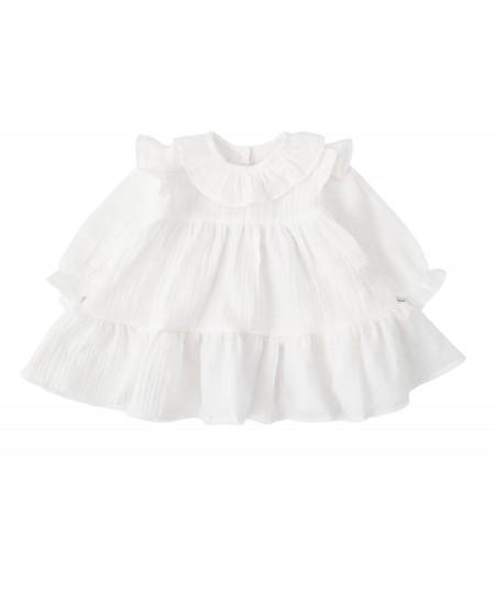 Sukienka z falbankami z muślinu